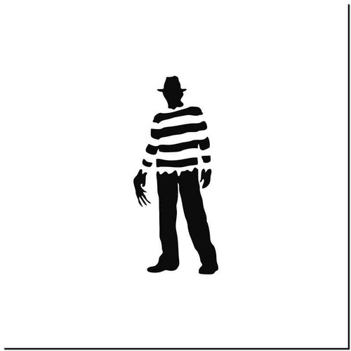 Freddy Krueger Vinyl Decal Sticker Size option will determine the size from the longest side Industry standard high performance calendared vinyl film Cut from Oracle 651 2.5 mil Outdoor durability is 7 years Glossy surface finish