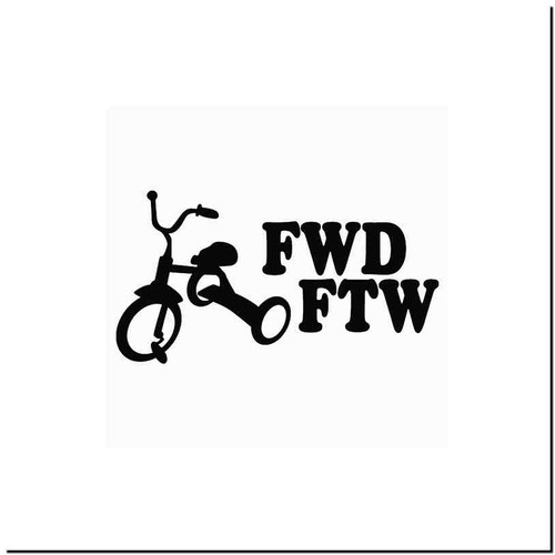 Fwd Sucks Vinyl Decal Sticker Size option will determine the size from the longest side Industry standard high performance calendared vinyl film Cut from Oracle 651 2.5 mil Outdoor durability is 7 years Glossy surface finish