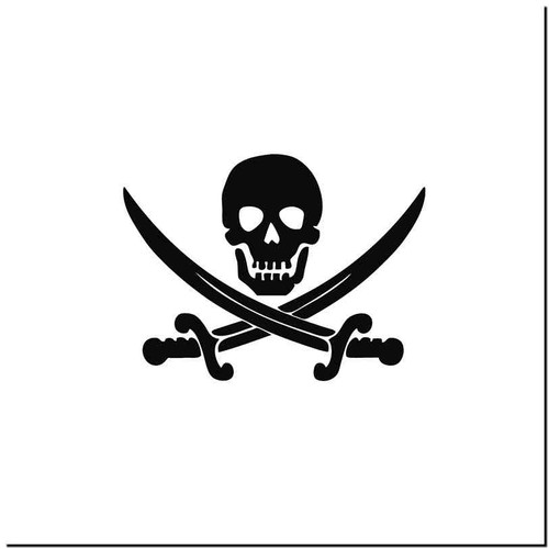Jolly Roger Vinyl Decal Sticker Size option will determine the size from the longest side Industry standard high performance calendared vinyl film Cut from Oracle 651 2.5 mil Outdoor durability is 7 years Glossy surface finish