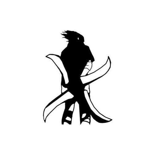 Sasuke Stand Tall  Vinyl Decal Sticker  Size option will determine the size from the longest side Industry standard high performance calendared vinyl film Cut from Oracle 651 2.5 mil Outdoor durability is 7 years Glossy surface finish
