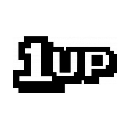 1 Up Gaming JDM Japanese Vinyl Decal Sticker 1  Size option will determine the size from the longest side Industry standard high performance calendared vinyl film Cut from Oracle 651 2.5 mil Outdoor durability is 7 years Glossy surface finish