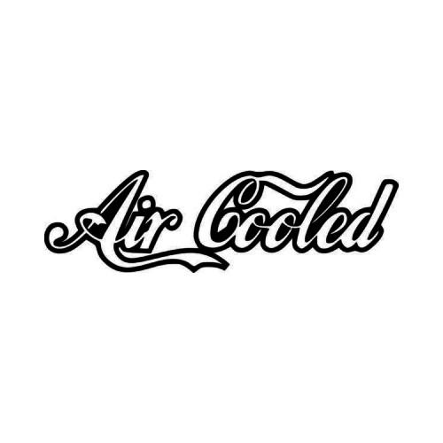 Air Cooled JDM Japanese Vinyl Decal Sticker 1  Size option will determine the size from the longest side Industry standard high performance calendared vinyl film Cut from Oracle 651 2.5 mil Outdoor durability is 7 years Glossy surface finish