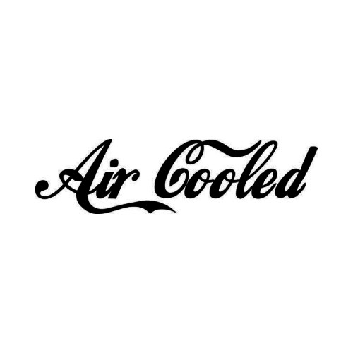 Air Cooled JDM Japanese Vinyl Decal Sticker 2  Size option will determine the size from the longest side Industry standard high performance calendared vinyl film Cut from Oracle 651 2.5 mil Outdoor durability is 7 years Glossy surface finish
