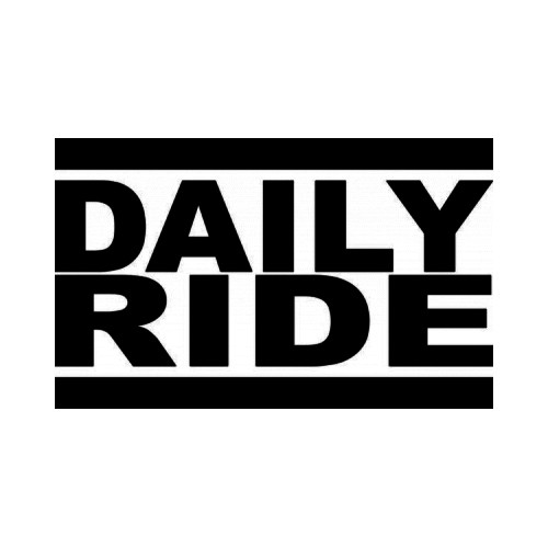 Daily Ride JDM Japanese Vinyl Decal Sticker  Size option will determine the size from the longest side Industry standard high performance calendared vinyl film Cut from Oracle 651 2.5 mil Outdoor durability is 7 years Glossy surface finish