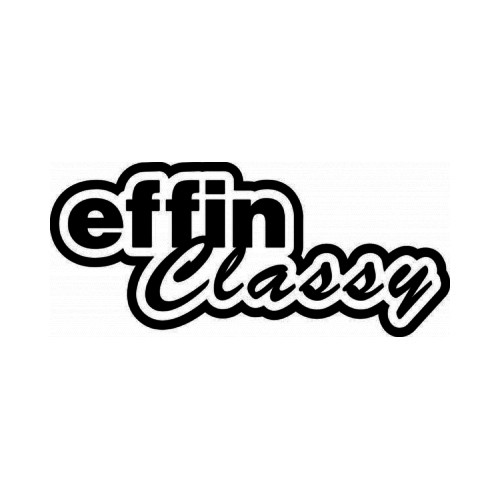 Effin Classy JDM Japanese Vinyl Decal Sticker  Size option will determine the size from the longest side Industry standard high performance calendared vinyl film Cut from Oracle 651 2.5 mil Outdoor durability is 7 years Glossy surface finish