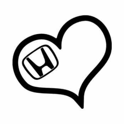 Honda Love Heart JDM Japanese Vinyl Decal Sticker  Size option will determine the size from the longest side Industry standard high performance calendared vinyl film Cut from Oracle 651 2.5 mil Outdoor durability is 7 years Glossy surface finish