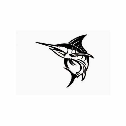 Sailfish Marlin  Vinyl Decal Sticker  Size option will determine the size from the longest side Industry standard high performance calendared vinyl film Cut from Oracle 651 2.5 mil Outdoor durability is 7 years Glossy surface finish