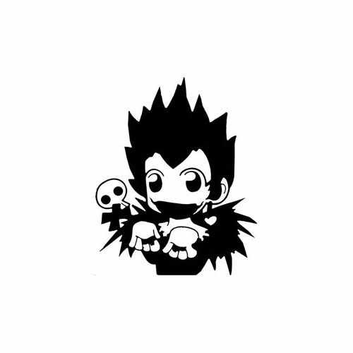 Ryuk Death Note  Vinyl Decal Sticker  Size option will determine the size from the longest side Industry standard high performance calendared vinyl film Cut from Oracle 651 2.5 mil Outdoor durability is 7 years Glossy surface finish