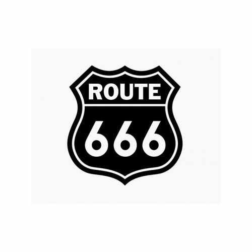 Route 666  Vinyl Decal Sticker  Size option will determine the size from the longest side Industry standard high performance calendared vinyl film Cut from Oracle 651 2.5 mil Outdoor durability is 7 years Glossy surface finish
