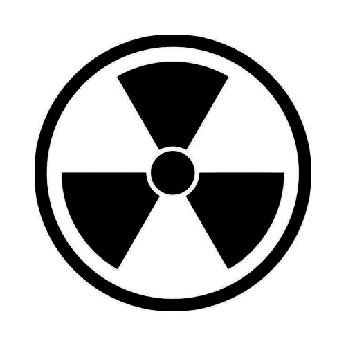 Biohazard Radioactive JDM Japanese Vinyl Decal Sticker 1  Size option will determine the size from the longest side Industry standard high performance calendared vinyl film Cut from Oracle 651 2.5 mil Outdoor durability is 7 years Glossy surface finish