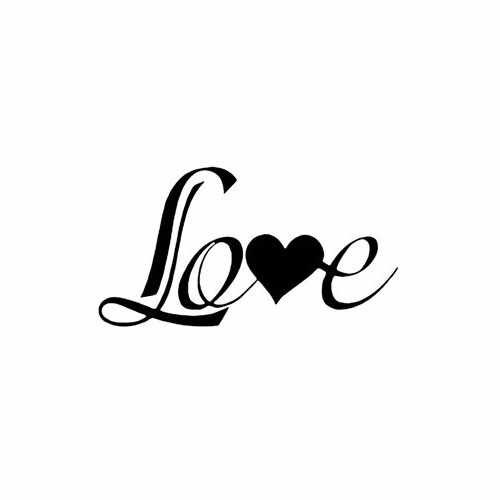 Romantic Love  Vinyl Decal Sticker  Size option will determine the size from the longest side Industry standard high performance calendared vinyl film Cut from Oracle 651 2.5 mil Outdoor durability is 7 years Glossy surface finish