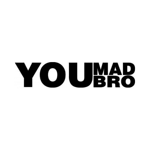 You Mad Bro JDM Japanese Vinyl Decal Sticker 2  Size option will determine the size from the longest side Industry standard high performance calendared vinyl film Cut from Oracle 651 2.5 mil Outdoor durability is 7 years Glossy surface finish