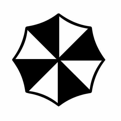 Resident Evil Umbrella Corps Vinyl Decal Sticker  Size option will determine the size from the longest side Industry standard high performance calendared vinyl film Cut from Oracle 651 2.5 mil Outdoor durability is 7 years Glossy surface finish