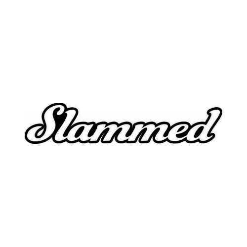Slammed JDM Japanese Vinyl Decal Sticker 2  Size option will determine the size from the longest side Industry standard high performance calendared vinyl film Cut from Oracle 651 2.5 mil Outdoor durability is 7 years Glossy surface finish