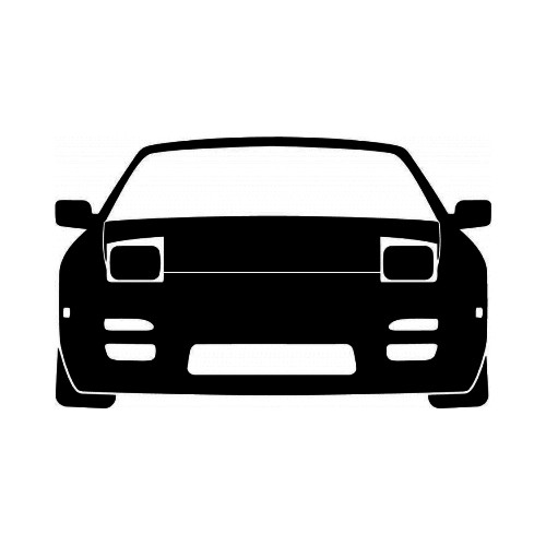 Nissan 240 SX S13 JDM Japanese Vinyl Decal Sticker  Size option will determine the size from the longest side Industry standard high performance calendared vinyl film Cut from Oracle 651 2.5 mil Outdoor durability is 7 years Glossy surface finish