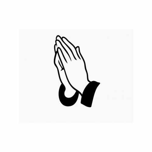 Praying Hands  Vinyl Decal Sticker  Size option will determine the size from the longest side Industry standard high performance calendared vinyl film Cut from Oracle 651 2.5 mil Outdoor durability is 7 years Glossy surface finish