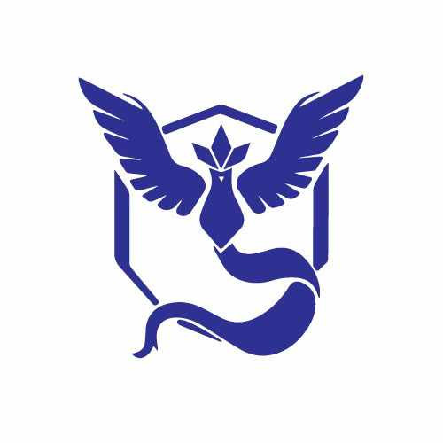 Pokemon Go Team Mystic Vinyl Decal Sticker  Size option will determine the size from the longest side Industry standard high performance calendared vinyl film Cut from Oracle 651 2.5 mil Outdoor durability is 7 years Glossy surface finish