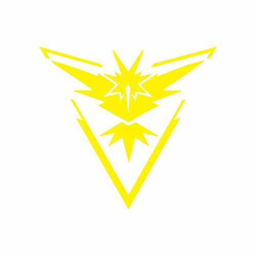 Pokemon Go Team Instinct Vinyl Decal Sticker  Size option will determine the size from the longest side Industry standard high performance calendared vinyl film Cut from Oracle 651 2.5 mil Outdoor durability is 7 years Glossy surface finish