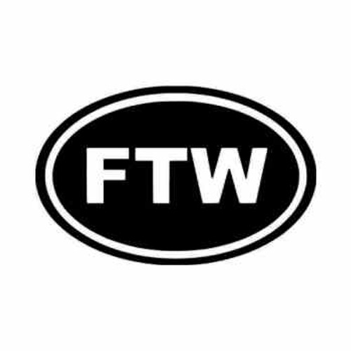 For the Win FTW JDM Japanese Vinyl Decal Sticker  Size option will determine the size from the longest side Industry standard high performance calendared vinyl film Cut from Oracle 651 2.5 mil Outdoor durability is 7 years Glossy surface finish