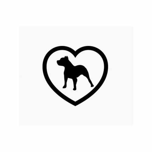 Pitbull Heart Love Dog  Vinyl Decal Sticker  Size option will determine the size from the longest side Industry standard high performance calendared vinyl film Cut from Oracle 651 2.5 mil Outdoor durability is 7 years Glossy surface finish