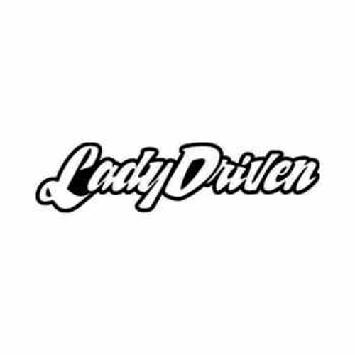 Lady Driven JDM Japanese Vinyl Decal Sticker  Size option will determine the size from the longest side Industry standard high performance calendared vinyl film Cut from Oracle 651 2.5 mil Outdoor durability is 7 years Glossy surface finish