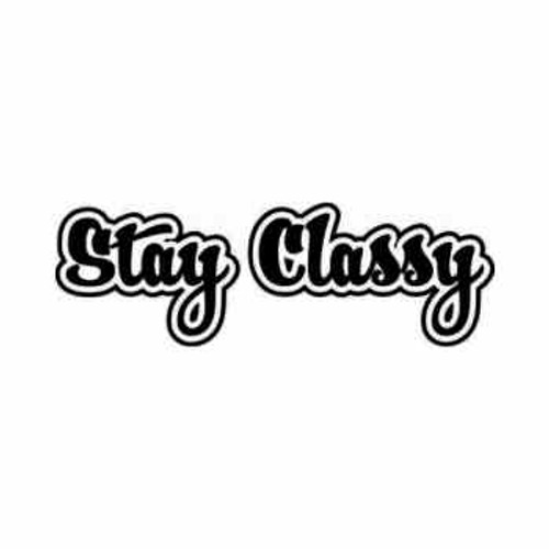 Stay Classy JDM Japanese Vinyl Decal Sticker 2  Size option will determine the size from the longest side Industry standard high performance calendared vinyl film Cut from Oracle 651 2.5 mil Outdoor durability is 7 years Glossy surface finish