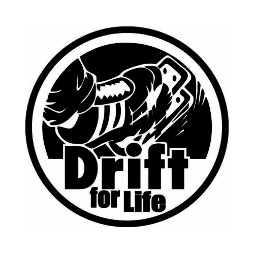 Drift For Life JDM Japanese Vinyl Decal Sticker  Size option will determine the size from the longest side Industry standard high performance calendared vinyl film Cut from Oracle 651 2.5 mil Outdoor durability is 7 years Glossy surface finish