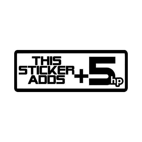 Sticker Adds 5hp Horsepower JDM Japanese Vinyl Decal Sticker 1  Size option will determine the size from the longest side Industry standard high performance calendared vinyl film Cut from Oracle 651 2.5 mil Outdoor durability is 7 years Glossy surface finish