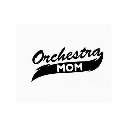 Orchestra Mom  Vinyl Decal Sticker  Size option will determine the size from the longest side Industry standard high performance calendared vinyl film Cut from Oracle 651 2.5 mil Outdoor durability is 7 years Glossy surface finish