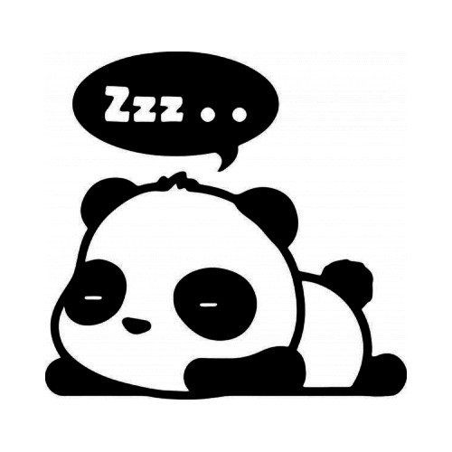 Cute Panda Bear Sleeping JDM Japanese Vinyl Decal Sticker  Size option will determine the size from the longest side Industry standard high performance calendared vinyl film Cut from Oracle 651 2.5 mil Outdoor durability is 7 years Glossy surface finish