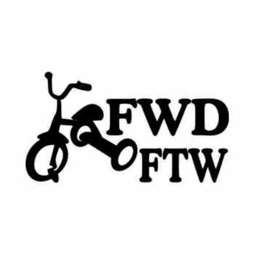 FWD FTW JDM Japanese Vinyl Decal Sticker  Size option will determine the size from the longest side Industry standard high performance calendared vinyl film Cut from Oracle 651 2.5 mil Outdoor durability is 7 years Glossy surface finish