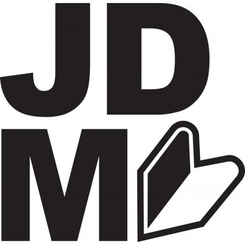 JDM JDM Car Vinyl Sticker Decal  Size option will determine the size from the longest side Industry standard high performance calendared vinyl film Cut from Oracle 651 2.5 mil Outdoor durability is 7 years Glossy surface finish