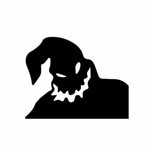 Nightmare Before Christmas Oogie Boogie Vinyl Decal Sticker  Size option will determine the size from the longest side Industry standard high performance calendared vinyl film Cut from Oracle 651 2.5 mil Outdoor durability is 7 years Glossy surface finish