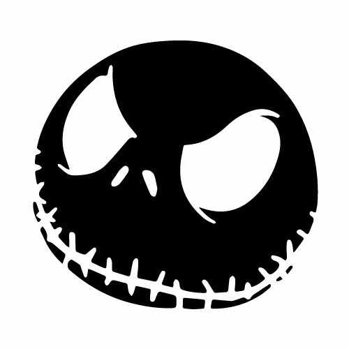 Nightmare Before Christmas Jack Angry Vinyl Decal Sticker  Size option will determine the size from the longest side Industry standard high performance calendared vinyl film Cut from Oracle 651 2.5 mil Outdoor durability is 7 years Glossy surface finish