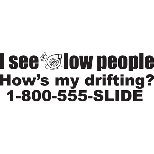 I See Low People JDM Car Vinyl Sticker Decal  Size option will determine the size from the longest side Industry standard high performance calendared vinyl film Cut from Oracle 651 2.5 mil Outdoor durability is 7 years Glossy surface finish