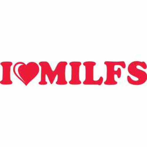 I Loveheart Milfs JDM Car Vinyl Sticker Decal  Size option will determine the size from the longest side Industry standard high performance calendared vinyl film Cut from Oracle 651 2.5 mil Outdoor durability is 7 years Glossy surface finish