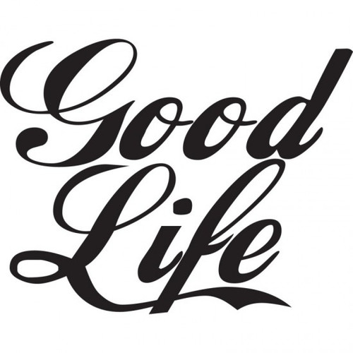 Good Life JDM Car Vinyl Sticker Decal  Size option will determine the size from the longest side Industry standard high performance calendared vinyl film Cut from Oracle 651 2.5 mil Outdoor durability is 7 years Glossy surface finish