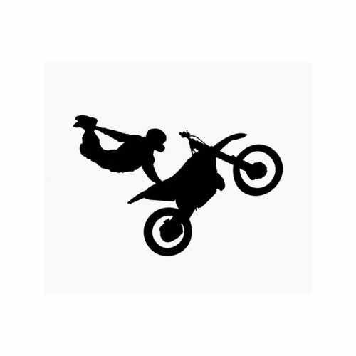 Motocross Freestyle  Vinyl Decal Sticker  Size option will determine the size from the longest side Industry standard high performance calendared vinyl film Cut from Oracle 651 2.5 mil Outdoor durability is 7 years Glossy surface finish