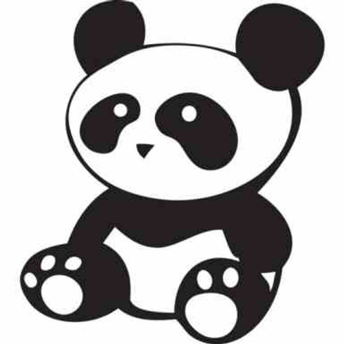 Sitting Panda JDM Car Vinyl Sticker Decal  Size option will determine the size from the longest side Industry standard high performance calendared vinyl film Cut from Oracle 651 2.5 mil Outdoor durability is 7 years Glossy surface finish
