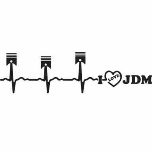 Piston Cardiogram JDM Car Vinyl Sticker Decal  Size option will determine the size from the longest side Industry standard high performance calendared vinyl film Cut from Oracle 651 2.5 mil Outdoor durability is 7 years Glossy surface finish