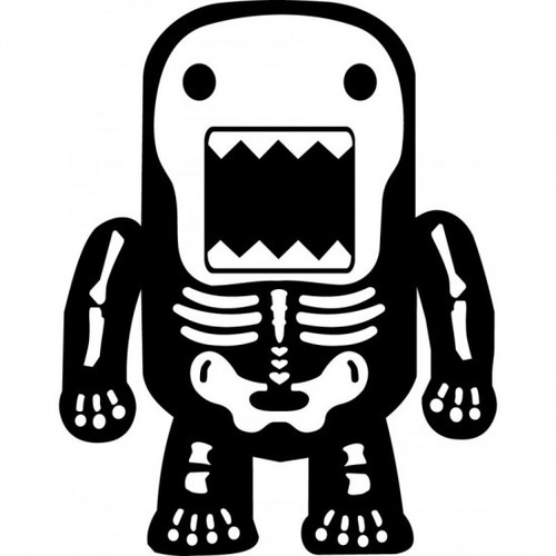 Monster X Ray Skeleton JDM Car Vinyl Sticker Decal  Size option will determine the size from the longest side Industry standard high performance calendared vinyl film Cut from Oracle 651 2.5 mil Outdoor durability is 7 years Glossy surface finish