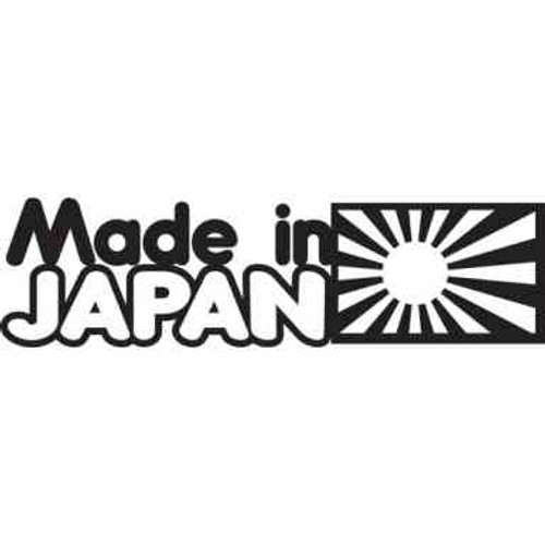 Made In Japan JDM Car Vinyl Sticker Decal  Size option will determine the size from the longest side Industry standard high performance calendared vinyl film Cut from Oracle 651 2.5 mil Outdoor durability is 7 years Glossy surface finish