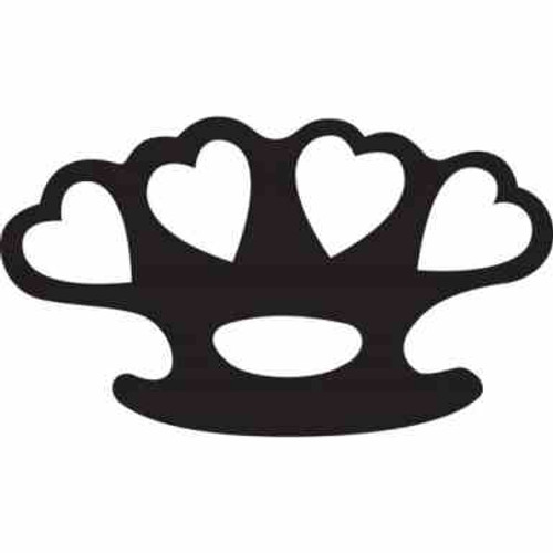 Knuckle Duster Hearts JDM Car Vinyl Sticker Decal  Size option will determine the size from the longest side Industry standard high performance calendared vinyl film Cut from Oracle 651 2.5 mil Outdoor durability is 7 years Glossy surface finish