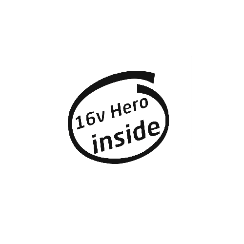 16v Hero Inside Vinyl Decal  Size option will determine the size from the longest side Industry standard high performance calendared vinyl film Cut from Oracle 651 2.5 mil Outdoor durability is 7 years Glossy surface finish