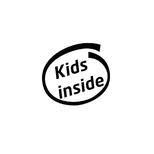 Kids Inside Vinyl Decal  Size option will determine the size from the longest side Industry standard high performance calendared vinyl film Cut from Oracle 651 2.5 mil Outdoor durability is 7 years Glossy surface finish