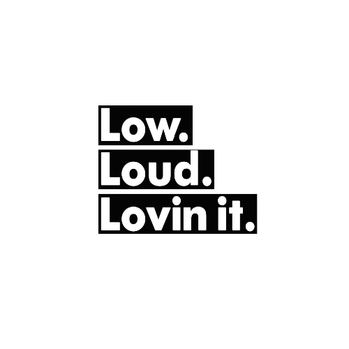 Low Loud Lovin It Vinyl Decal  Size option will determine the size from the longest side Industry standard high performance calendared vinyl film Cut from Oracle 651 2.5 mil Outdoor durability is 7 years Glossy surface finish
