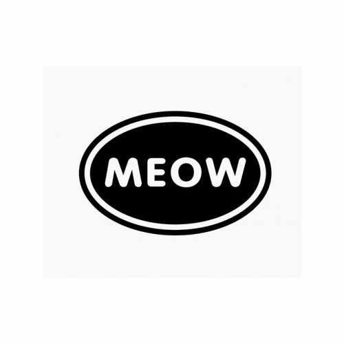 Meow Love  Vinyl Decal Sticker  Size option will determine the size from the longest side Industry standard high performance calendared vinyl film Cut from Oracle 651 2.5 mil Outdoor durability is 7 years Glossy surface finish