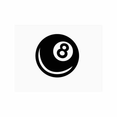 Magic Eight Ball  Vinyl Decal Sticker  Size option will determine the size from the longest side Industry standard high performance calendared vinyl film Cut from Oracle 651 2.5 mil Outdoor durability is 7 years Glossy surface finish