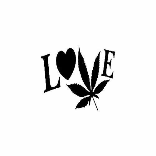 Love Weed  Vinyl Decal Sticker  Size option will determine the size from the longest side Industry standard high performance calendared vinyl film Cut from Oracle 651 2.5 mil Outdoor durability is 7 years Glossy surface finish