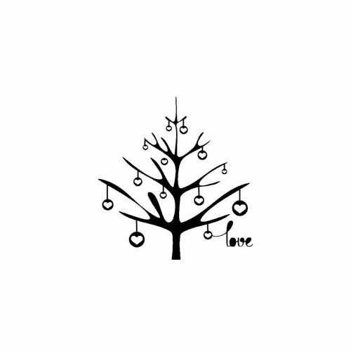 Love Tree  Vinyl Decal Sticker  Size option will determine the size from the longest side Industry standard high performance calendared vinyl film Cut from Oracle 651 2.5 mil Outdoor durability is 7 years Glossy surface finish